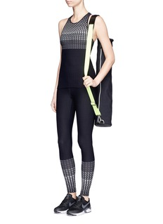 KORAL 'Gradient' grid jacquard performance leggings