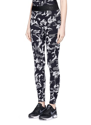 Front View - Click To Enlarge - KORAL - 'Knockout' camouflage jacquard performance leggings