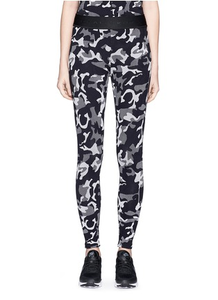 Main View - Click To Enlarge - KORAL - 'Knockout' camouflage jacquard performance leggings