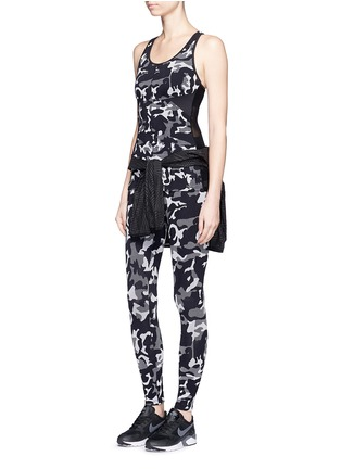Figure View - Click To Enlarge - KORAL - 'Knockout' camouflage jacquard performance leggings