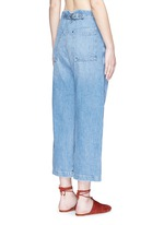 'Elkin' high waist wide leg denim pants