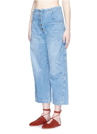 Front View - Click To Enlarge - Rachel Comey - 'Elkin' high waist wide leg denim pants