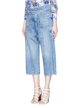 Rachel Comey - 'Tolleson' belted cropped wide leg denim pants