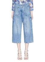 'Tolleson' belted cropped wide leg denim pants