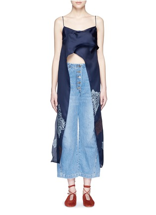 Main View - Click To Enlarge - Rachel Comey - 'Virden' conch print drape cropped camisole top