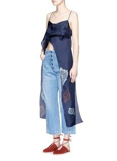 RACHEL COMEY'Virden' conch print drape cropped camisole top