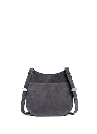 Back View - Click To Enlarge - The Row - 'Hunting' suede shoulder flap bag