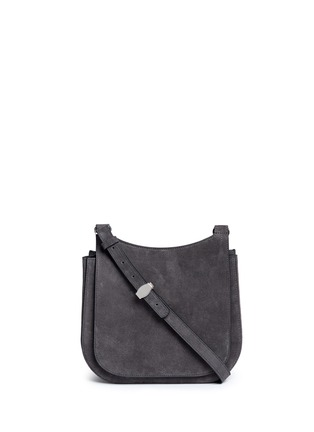 Main View - Click To Enlarge - The Row - 'Hunting' suede shoulder flap bag