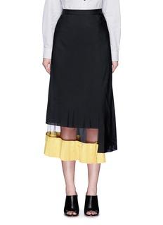 TOGA ARCHIVESRuffle mesh hem maxi skirt
