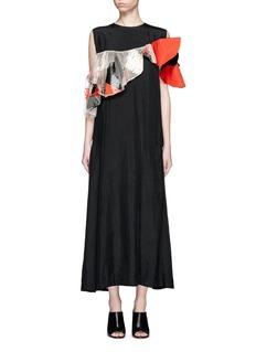TOGA ARCHIVESMix ruffle off-shoulder taffeta dress