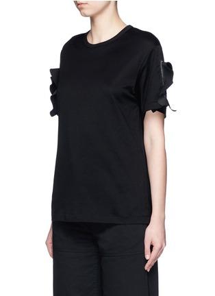 TOGA ARCHIVES-Ruffle trim split cuff T-shirt