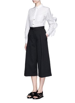 TOGA ARCHIVES-Cutout ruffle sleeve poplin shirt