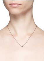 Rose cut diamond 18k recycled white gold necklace