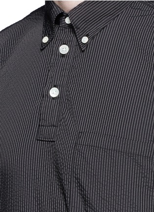Detail View - Click To Enlarge - Nanamica - Stripe seersucker wind shirt