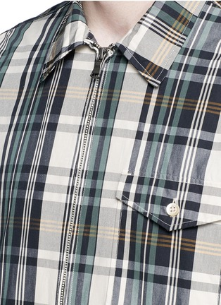 Detail View - Click To Enlarge - nanamica - Check plaid wind shirt jacket