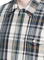 Check plaid wind shirt jacket