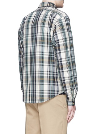 Back View - Click To Enlarge - nanamica - Check plaid wind shirt jacket