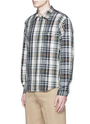 Front View - Click To Enlarge - Nanamica - Check plaid wind shirt jacket
