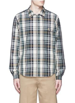 Main View - Click To Enlarge - nanamica - Check plaid wind shirt jacket