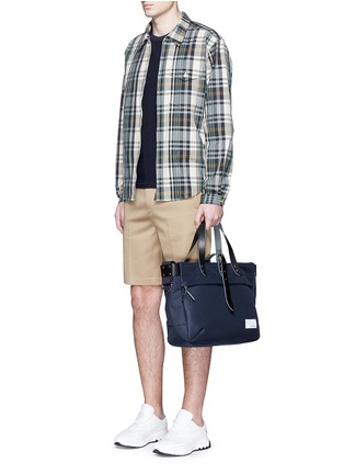 Figure View - Click To Enlarge - nanamica - Check plaid wind shirt jacket