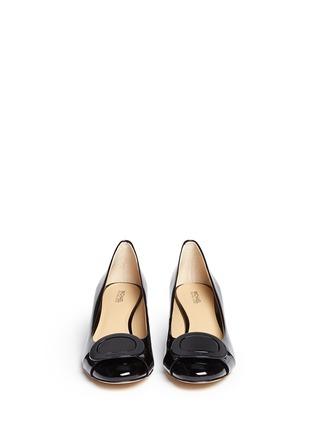 正面 -点击放大 - MICHAEL KORS - Pauline金属扣装饰漆皮中跟鞋