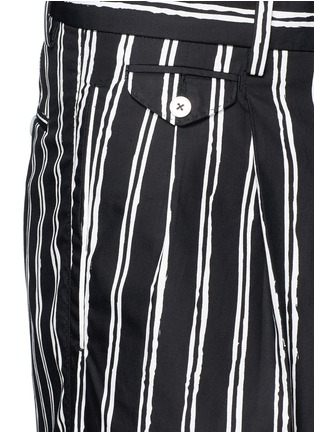 Detail View - Click To Enlarge - Dolce & Gabbana - Vertical stripe cotton shorts