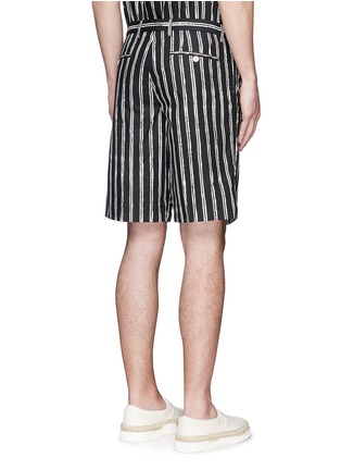 Back View - Click To Enlarge - Dolce & Gabbana - Vertical stripe cotton shorts