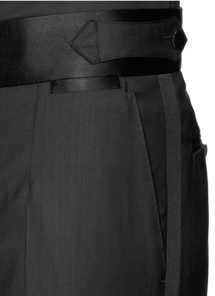 Detail View - Click To Enlarge - Dolce & Gabbana - Satin cummerbund tuxedo pants