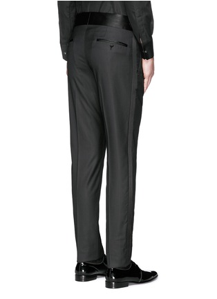 Back View - Click To Enlarge - Dolce & Gabbana - Satin cummerbund tuxedo pants