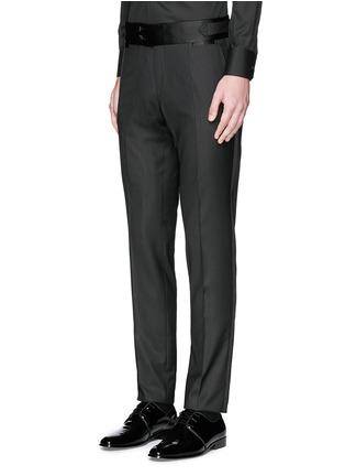 Front View - Click To Enlarge - Dolce & Gabbana - Satin cummerbund tuxedo pants