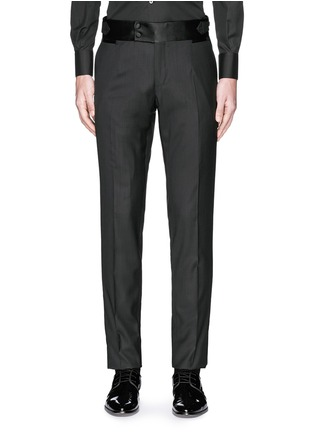 Main View - Click To Enlarge - Dolce & Gabbana - Satin cummerbund tuxedo pants