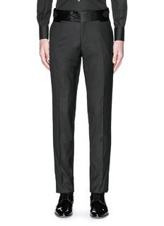 Dolce & GabbanaSatin cummerbund tuxedo pants