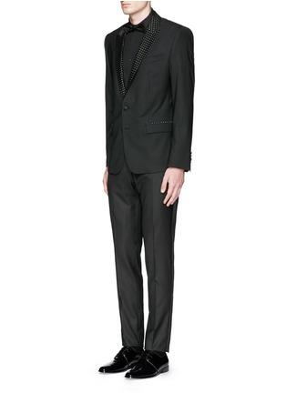 Dolce & Gabbana-Satin cummerbund tuxedo pants