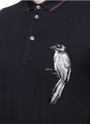 细节 - 点击放大 - DOLCE & GABBANA - 小鸟刺绣纯棉POLO衫
