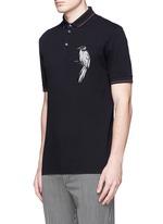 小鸟刺绣纯棉POLO衫