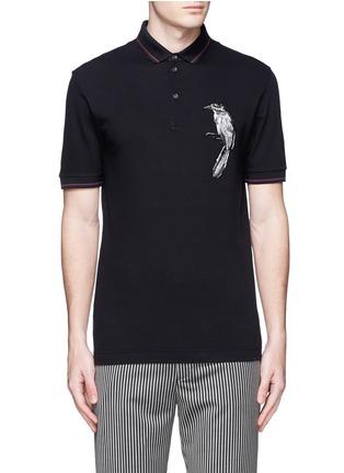 首图 - 点击放大 - DOLCE & GABBANA - 小鸟刺绣纯棉POLO衫