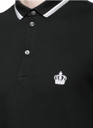 Detail View - Click To Enlarge - Dolce & Gabbana - Crown embroidery polo shirt
