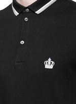Crown embroidery polo shirt