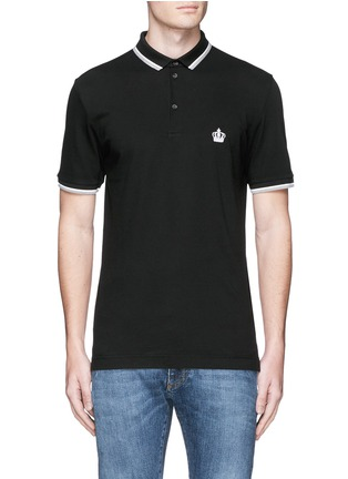 Main View - Click To Enlarge - Dolce & Gabbana - Crown embroidery polo shirt