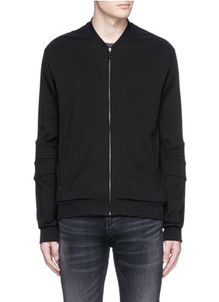 Main View - Click To Enlarge - Dolce & Gabbana - Biker sleeve cotton bomber jacket