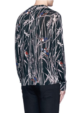 Back View - Click To Enlarge - Dolce & Gabbana - Bird and bamboo print silk sweater