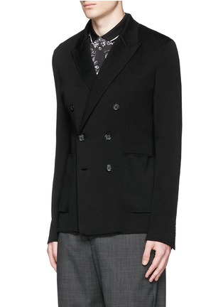 Dolce & Gabbana - Double breasted cotton knit blazer