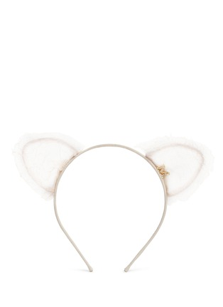 Main View - Click To Enlarge - Maison Michel - 'Heidi' cat ear lace headband