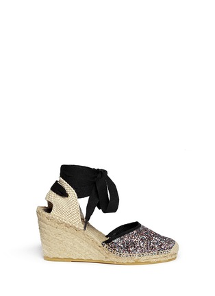 Main View - Click To Enlarge - Ash - 'Wanda Bis' glitter espadrille wedge sandals