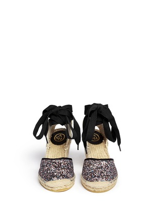 Figure View - Click To Enlarge - Ash - 'Wanda Bis' glitter espadrille wedge sandals