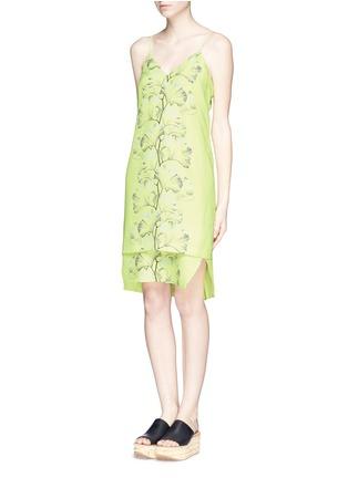 WHISTLES-'Tillie' palm print crepe dress