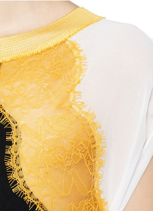 Detail View - Click To Enlarge - SANDRO - 'Rosan' lace crepe dress