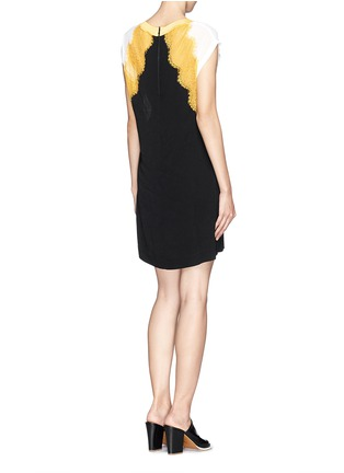 Back View - Click To Enlarge - SANDRO - 'Rosan' lace crepe dress