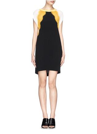 Main View - Click To Enlarge - SANDRO - 'Rosan' lace crepe dress