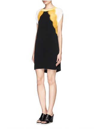 Figure View - Click To Enlarge - SANDRO - 'Rosan' lace crepe dress